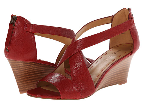 Nine West - Ronton (Red Leather) Women's Wedge Shoes