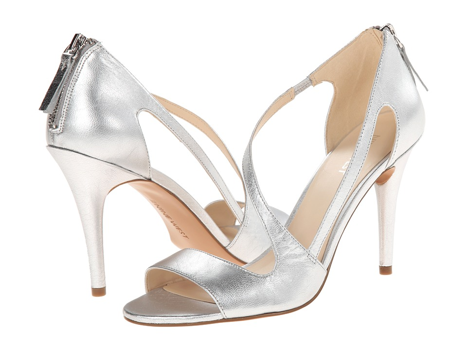 Nine West - Simplistic (Silver Leather) High Heels