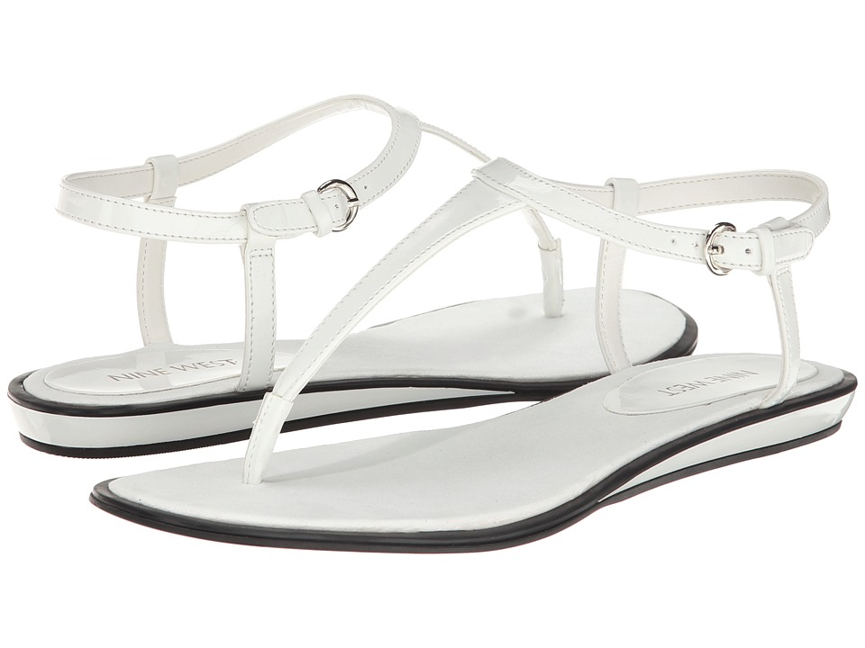 Nine West - Venga (White Synthetic) Women's Sandals