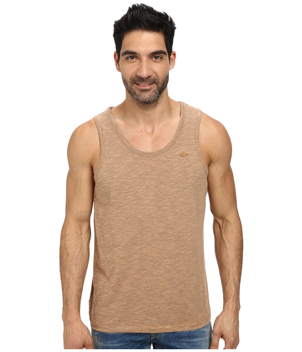 Lacoste - Slubbed Jersey Slim Fit Tank Top (Potiron Dyed) Men's Sleeveless