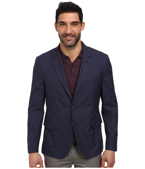 Lacoste - Cotton Twill Blazer (Navy Blue) Men's Jacket