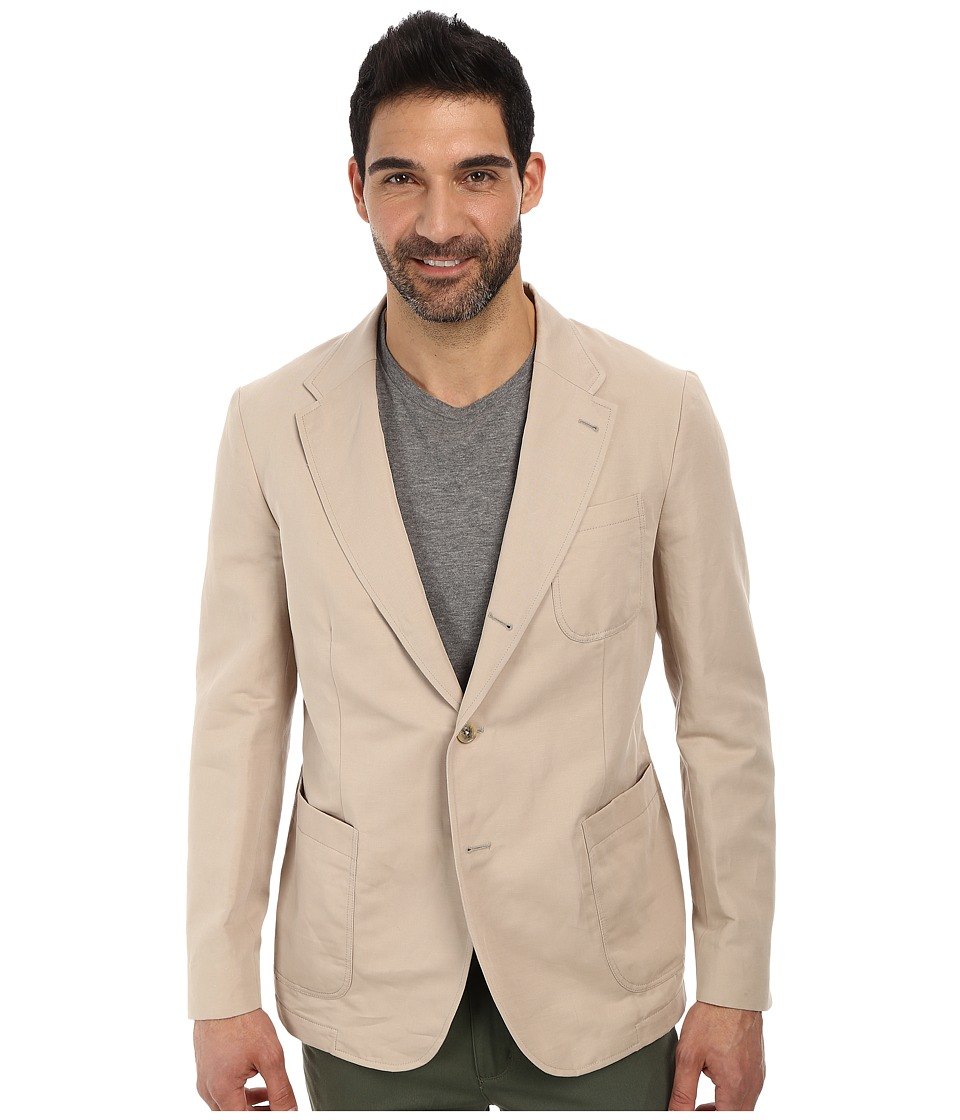 Lacoste - Cotton Linen Blazer (Light Gobi Desert Beige) Men's Jacket