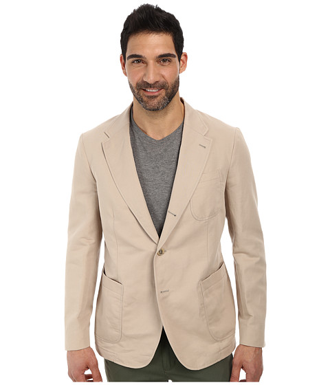 Lacoste - Cotton Linen Blazer (Light Gobi Desert Beige) Men's Jacket