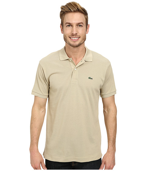 Lacoste - L1212 Classic Pique Polo Shirt (Raffia Tan) Men's Short Sleeve Knit
