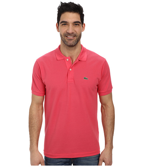 Lacoste - L1212 Classic Pique Polo Shirt (Dahlia Pink) Men's Short Sleeve Knit