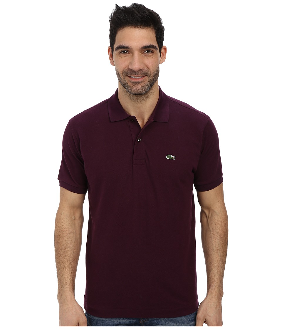 Lacoste - L1212 Classic Pique Polo Shirt (Eggplant) Men's Short Sleeve Knit
