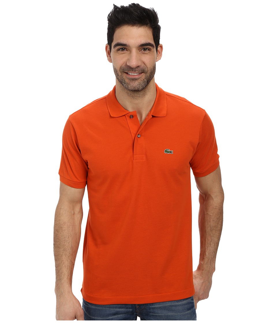 Lacoste - L1212 Classic Pique Polo Shirt (Orangeraie) Men's Short Sleeve Knit