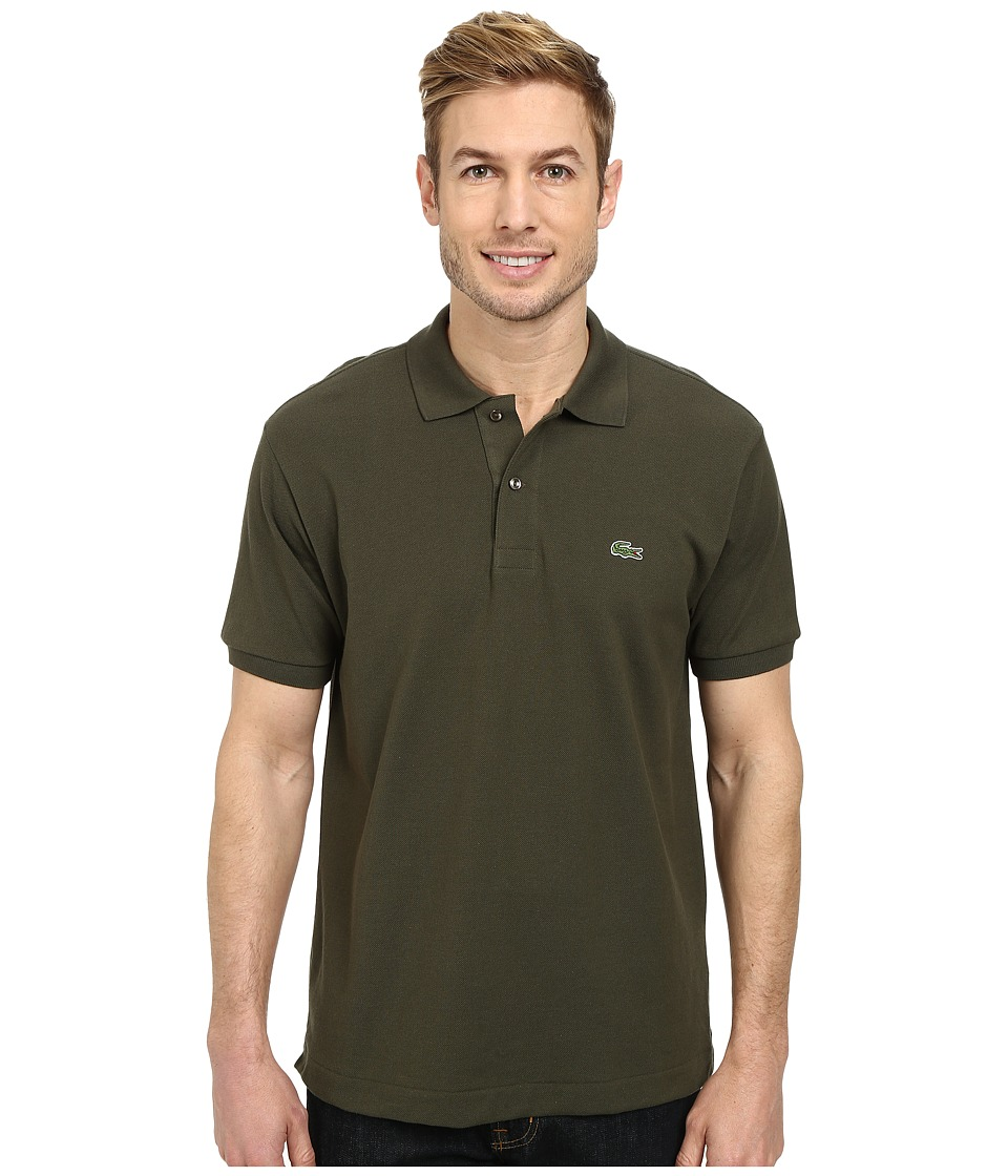 Lacoste - L1212 Classic Pique Polo Shirt (Baobab Green) Men's Short Sleeve Knit