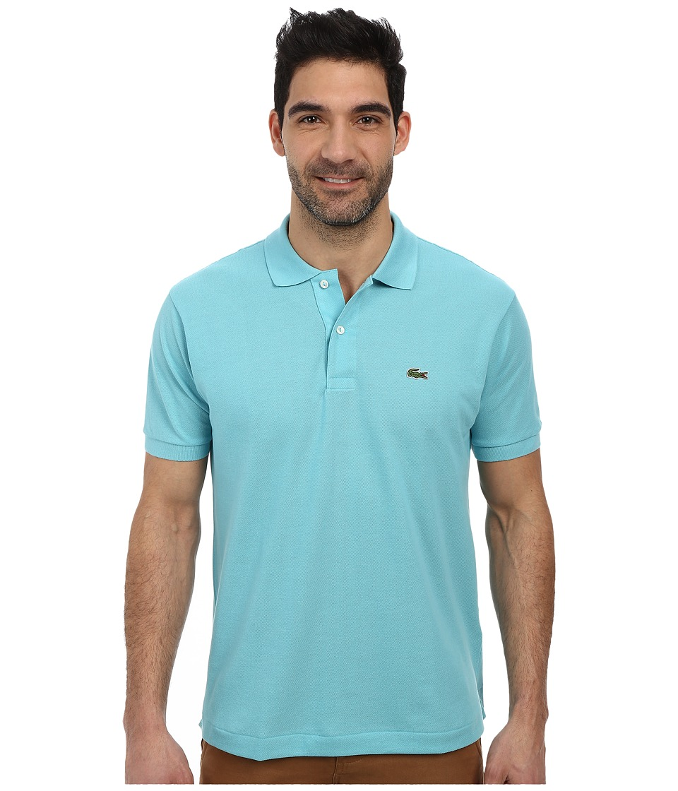 Lacoste - L1212 Classic Pique Polo Shirt (Corsica Aqua) Men's Short Sleeve Knit