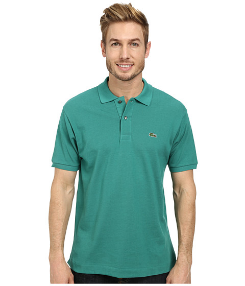 Lacoste - L1212 Classic Pique Polo Shirt (Jungle Green) Men's Short Sleeve Knit