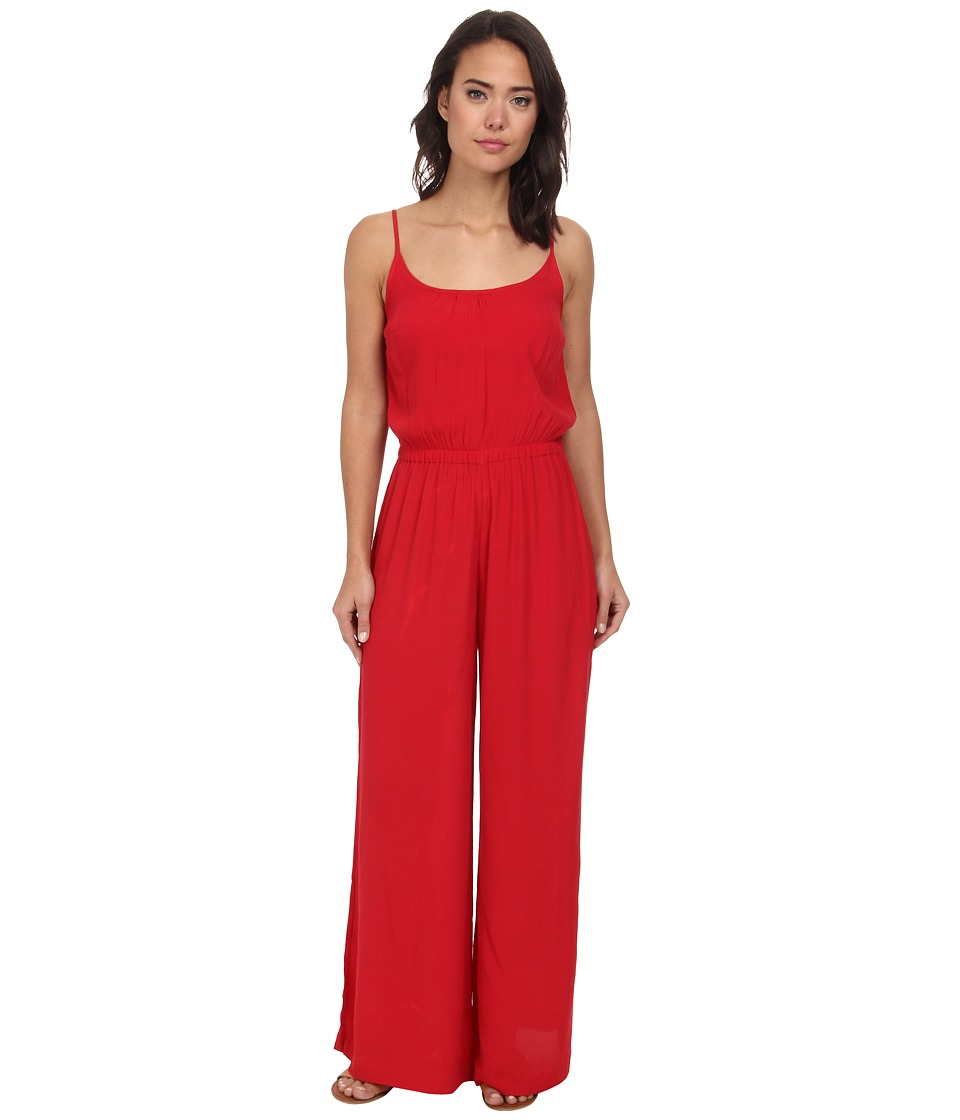 Vix - Solid Red Kate Jumpsuit Cover-Up (Red) Women