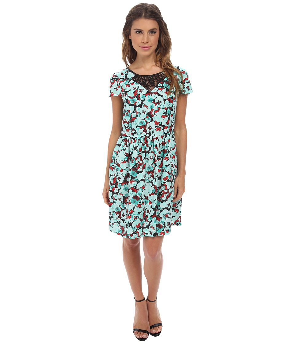 kensie Pansies Dress KS2K7452 (Mint Combo) Women