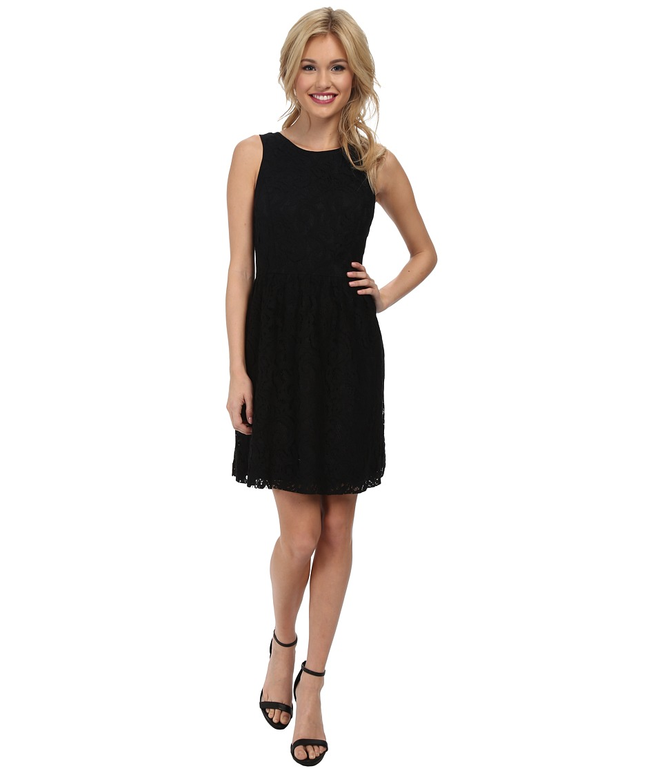 kensie Luxurious Lace Dress KS2K7421 (Black) Women