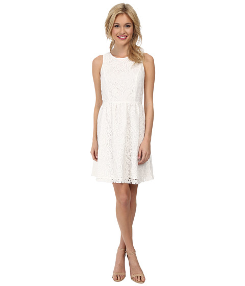 kensie - Luxurious Lace Dress KS2K7421 (Dove) Women