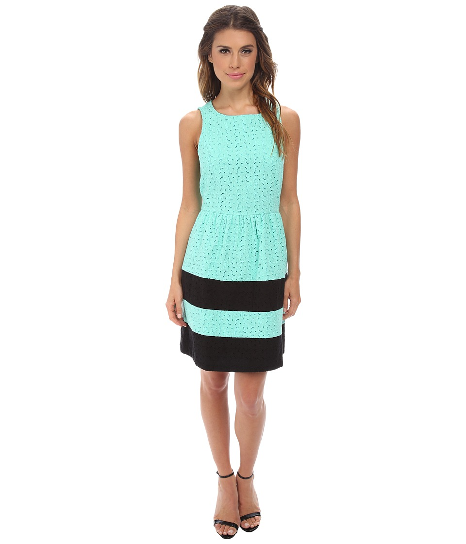 kensie - Stacked Daisy Eyelet Dress KS2K7422 (Mint Combo) Women
