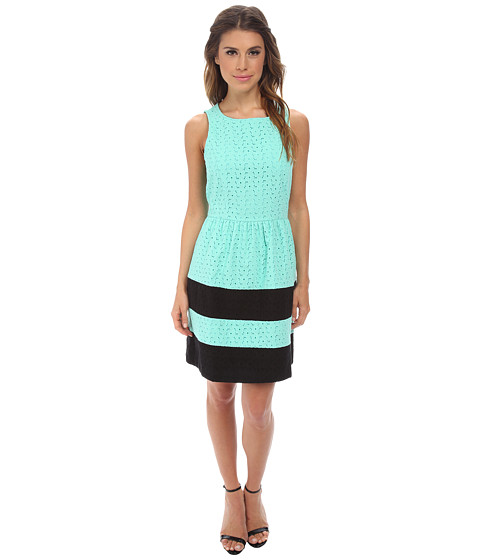 kensie - Stacked Daisy Eyelet Dress KS2K7422 (Mint Combo) Women's Dress