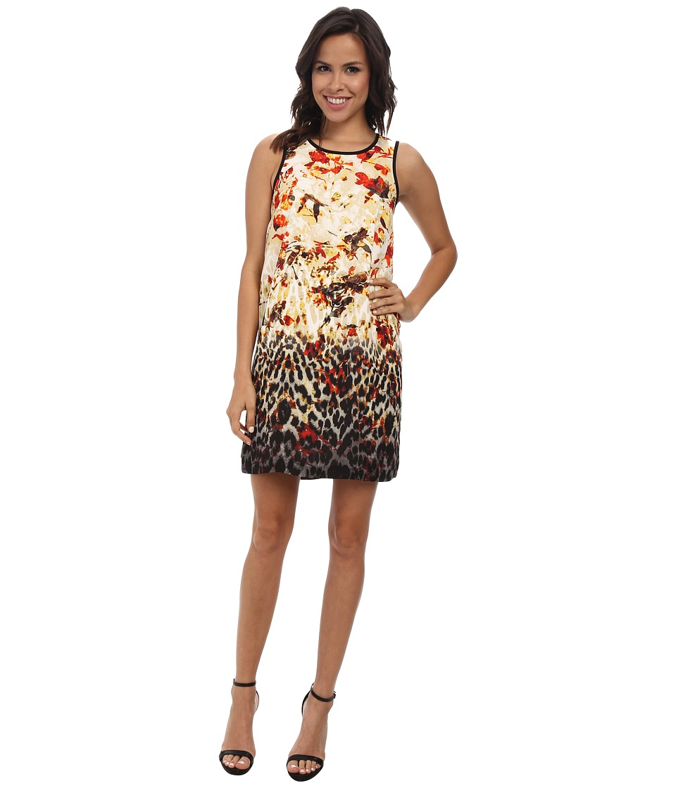 kensie Animal Ombre Floral Dress KS3K7459 (Dove Combo) Women