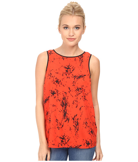 kensie - Scribble Top KS3K4432 (Red Pop) Women