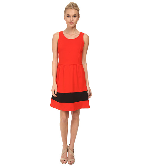 kensie - Ponte Dress KS3K7414 (Red Pop Combo) Women's Dress