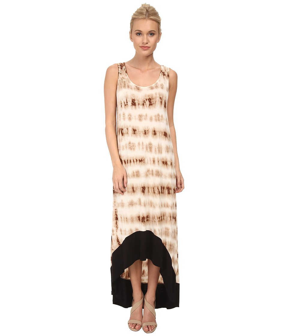 kensie Tie Dye Grid Dress KS3K7466 (Tobacco) Women
