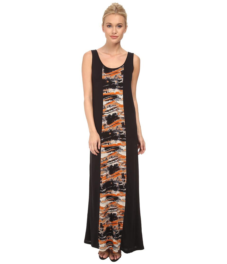 kensie - Blurry Brush Stroke Dress KS3P7439 (Rebel Orange Combo) Women