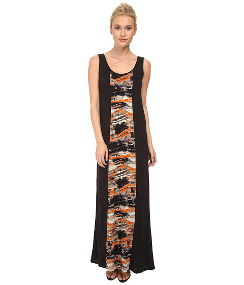 kensie - Blurry Brush Stroke Dress KS3P7439 (Rebel Orange Combo) Women's Dress
