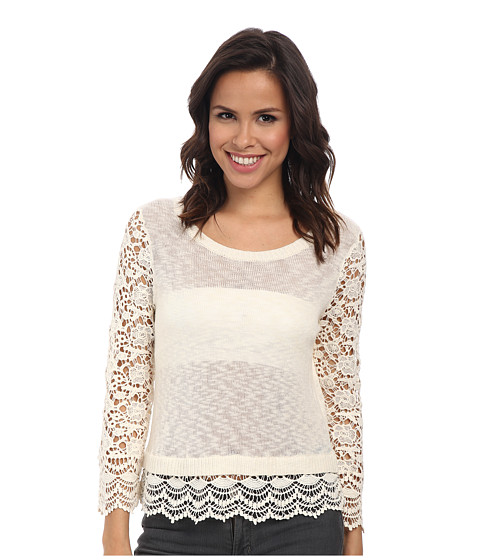 kensie - Cotton Blend Slub Knit Sweater KS3K5736 (Vanilla) Women's Sweater