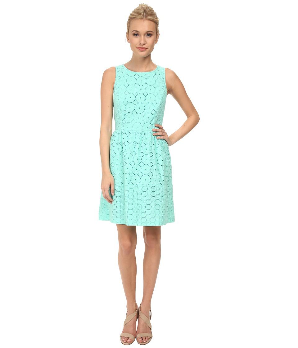kensie - Embroidered Eyelet Dress KS3K7463 (Mint) Women's Dress