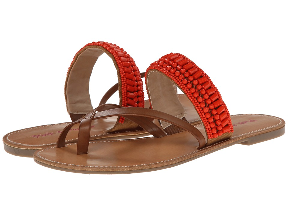 Pink & Pepper - Nataley (New Luggage/Coral) Women's Sandals
