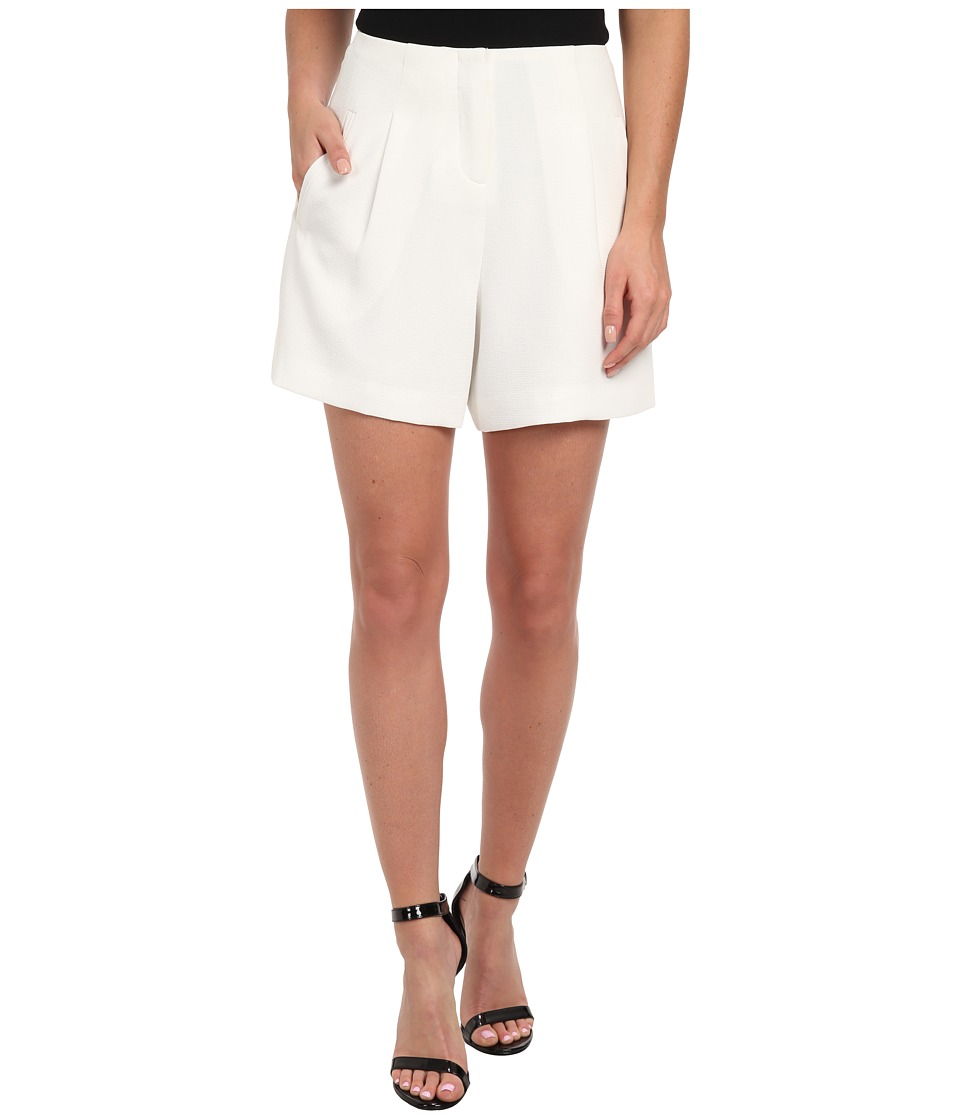 Badgley Mischka - Pebble Crepe High Waisted Short (Ivory) Women's Shorts
