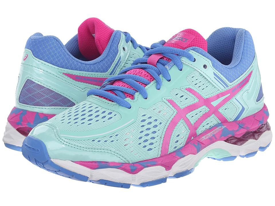 ASICS Kids - Gel-Kayano(r) 22 GS (Little Kid/Big Kid) (Ice Blue/Pink Glow/Marina) Girls Shoes