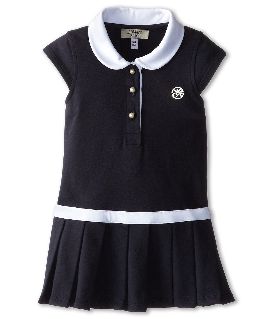 Armani Junior - Navy Tennis Dress w/ White Detail (Infant) (Indigo) Girl's Dress