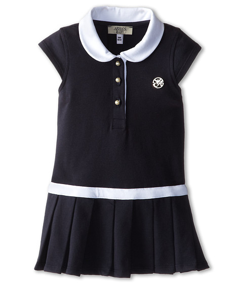 Armani Junior - Navy Tennis Dress w/ White Detail (Infant) (Indigo) Girl