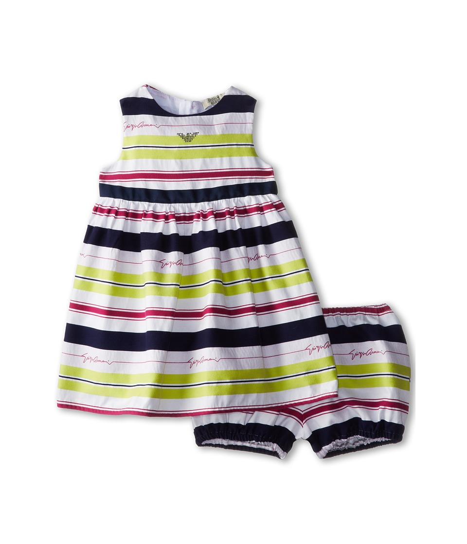 Armani Junior - Giorgio Dress w/ Bloomer (Infant) (Stripe) Girl