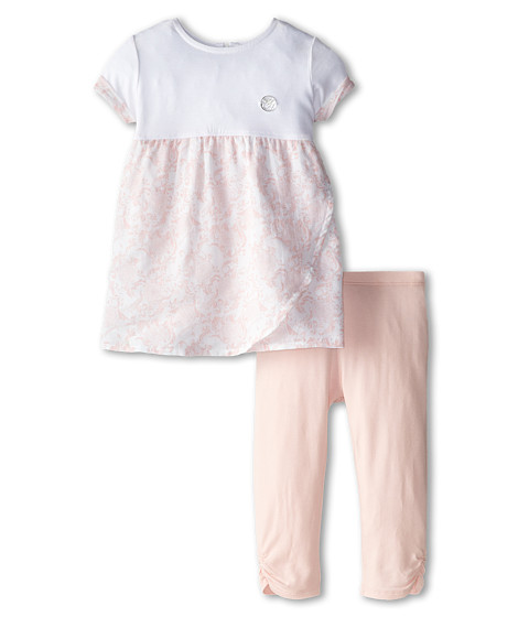 Armani Junior - Floral Tunic in Pink w/ Legging (Infant) (Bicolor Two-Tone) Girl's Active Sets