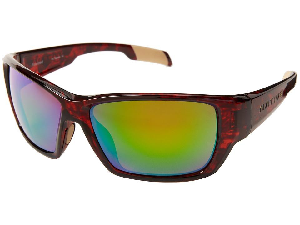 Native Eyewear - Ward (Maple Tort/Green Reflex) Sport Sunglasses