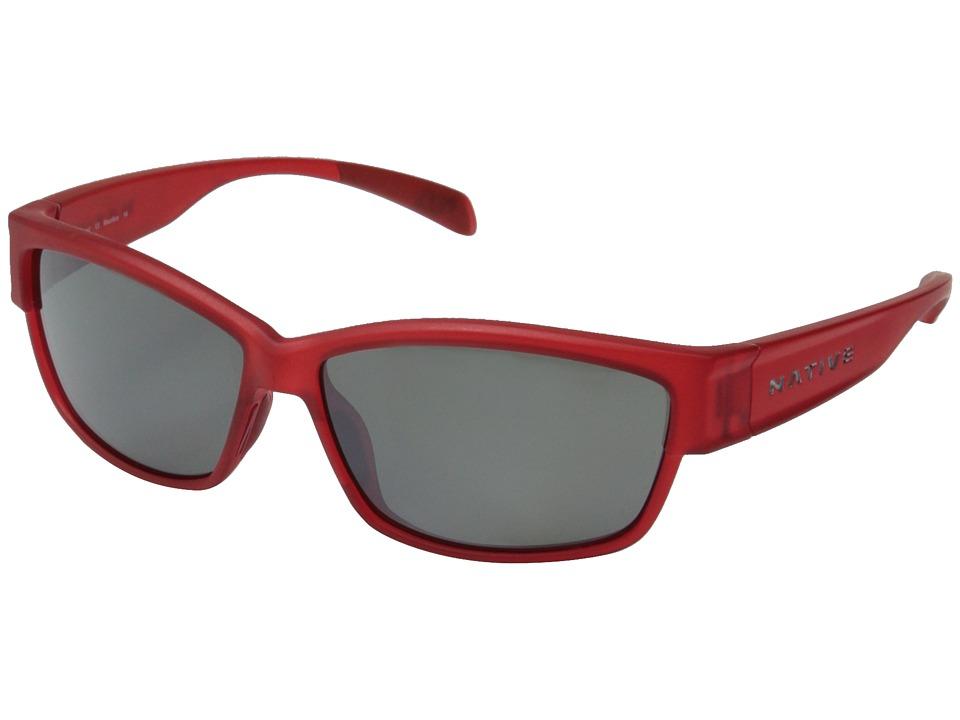 Native Eyewear - Toolah (Red Frost/Silver Reflex) Sport Sunglasses