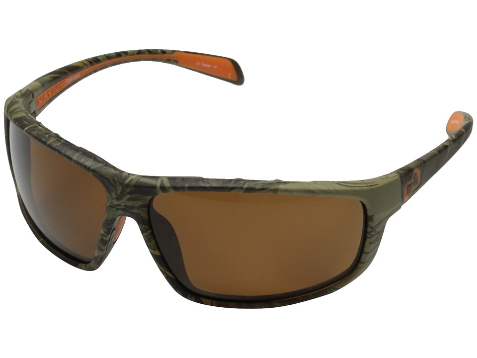 Native Eyewear - Bigfork (Camo Max1/Brown) Plastic Frame Sport Sunglasses