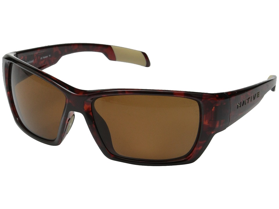 Native Eyewear - Ward (Maple Tort/Brown) Sport Sunglasses
