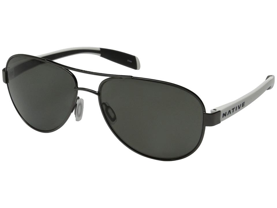 Native Eyewear - Patroller (Gunmetal/White/Gray) Sport Sunglasses