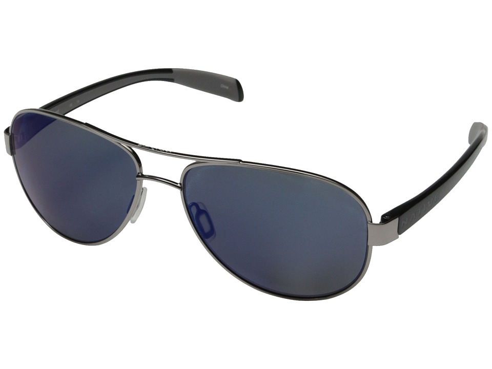 Native Eyewear - Patroller (Chrome/Iron/Blue Reflex) Sport Sunglasses