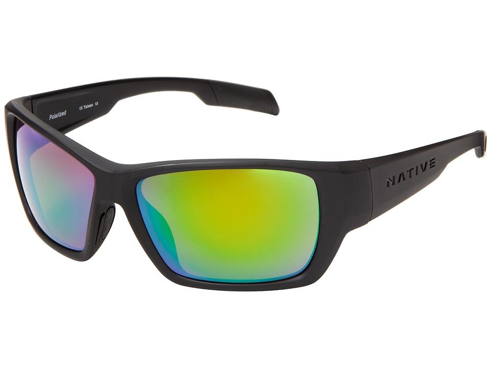 Native Eyewear - Ward (Asphalt/Green Reflex) Sport Sunglasses