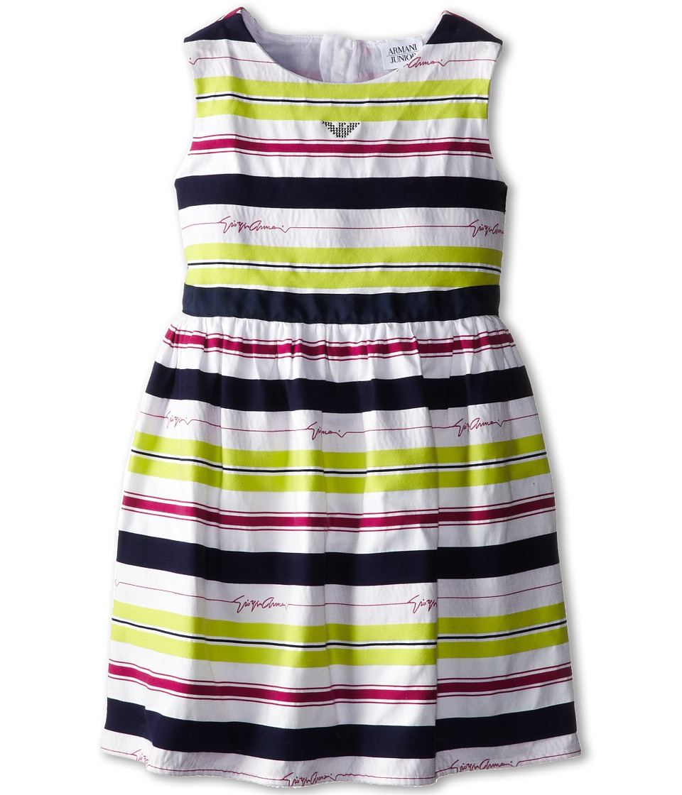 Armani Junior - Giorgio Dress w/ Bloomer (Toddler/Little Kids/Big Kids) (Stripe) Girl's Dress