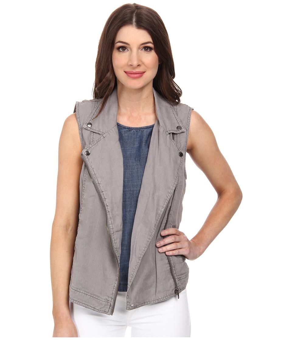 Michael Stars - Linen Sleeveless Moto Vest (Galvanized) Women's Vest