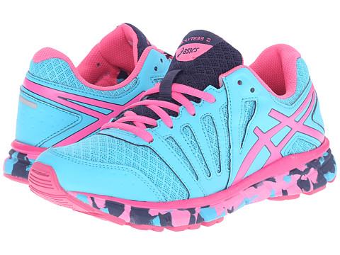 ASICS Kids - Gel-Lyte33 2 GS (Little Kid/Big Kid) (Blue Atoll/Hot Pink/Indigo Blue) Girls Shoes