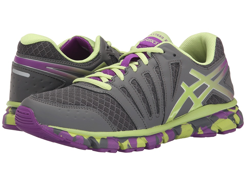 ASICS Kids - Gel-Lyte33 2 GS (Little Kid/Big Kid) (Titanium/Sharp Green/Purple) Girls Shoes