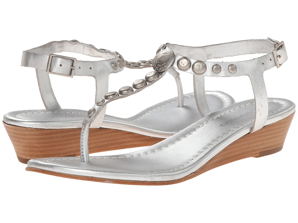 Bernardo - Mojo Wedge (Silver Calf/Silver) Women's Sandals