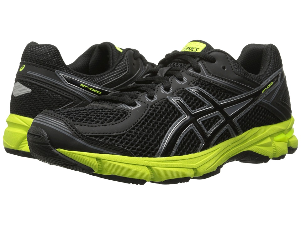 ASICS Kids - GT-1000 4 GS (Little Kid/Big Kid) (Black/Onyx/Flash Yellow) Boys Shoes