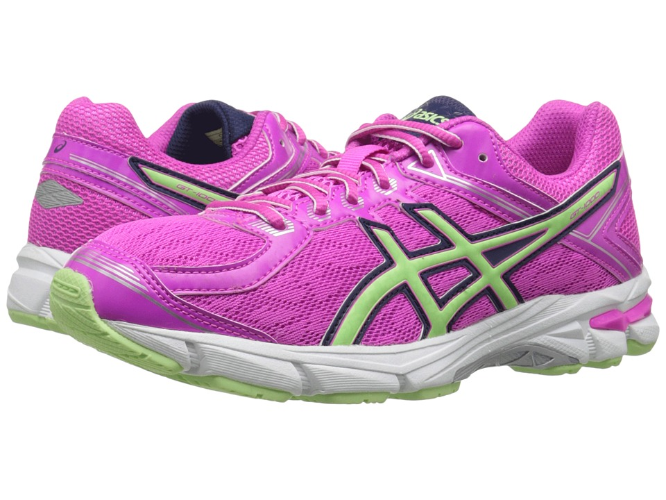 ASICS Kids - GT-1000 4 GS (Little Kid/Big Kid) (Pink Glow/Pistachio/Indigo Blue) Girls Shoes