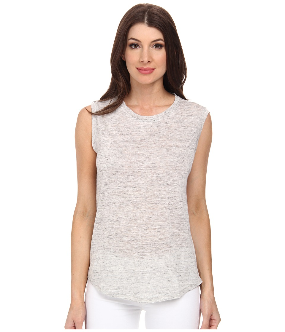 Michael Stars - Linen Knit High-Low Muscle Tank Top (Heather Grey) Women's Sleeveless